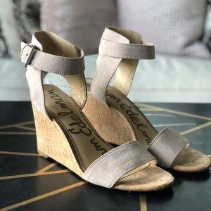 Sam Edelman, Willow, Wedge Sandals in Blush, 8.5